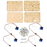 4 DOF Holz Holz Roboterarm Holz Roboter Mechanischer Arm sg90 Servo für Arduino Raspberry Pi