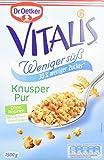 Dr. Oetker Vitalis Weniger Süß Knusper Pur: Großpackung Knuspermüsli mit 30% weniger Zucker, 1er Packung, 1,5kg