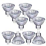 Vicloon Halogenlampen MR11, 10 Stück MR11/GU4 Halogen-Reflektor, 12V, 20 Watt, 300LM, 2800K Warmweiß Dimmbar Strahler Glühbirne mit GU4-Sockel, Geeignet für Zuhause, Büro, Schienenbeleuchtung
