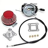 Pocket Bike Flachschieber Rennvergaser für 43 bis 53ccm Motor inkl. 4 Düsen