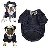 Meioro Hunde Fliege Pullover Haustier Kleidung Jacke Hunde Kleidung Cute Pet Kleidung Warm Dog Jumpers Katze Kleidung Welpen Französisch Bulldog Kleidung Mops Kleidung (XL)