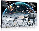 Star Wars Canvas Art Print Framed Picture Large 20x30 Inches A1 by Panther Print