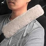 GAMPRO Gurtpolster Auto im Zweierpack, Polsterung für Sitzgurt im Auto für Erwachsene und Kinder, Geeignet für Autositzgurt, Rucksack, Umhängetasche(BRAUN)