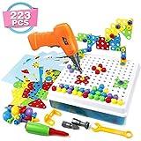 Symiu 3D Puzzle Kinder Mosaik Steckspiel Bausteine mit Schraubendreher Schrauben Pädagogisches Spielzeug Geschenkset für Kinder Junge Mädchen ab 3 4 5 Jahre Alt (MEHRWEG)