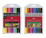 Faber-Castell - Doppelfasermaler (Standard + Neon, 2x 10er Etui)