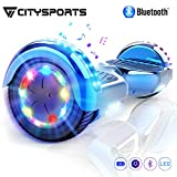 CITYSPORTS Hoverboard Scooter 6,5zoll SUV Bluetooth Overboard, Elektro Scooter Self-Balance Board 350W*2 LED Räder, für Kinder und Anfänger