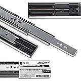 Junker 4 Paar Vollauszüge KV1-45-H45- L650-SC 650 mm mit Selbsteinzug u. Dämpfung (SoftClose) Schubladenschiene mit 45 Kg Tragkraft