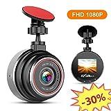 FLYLINKTECH DashCam, 1080P Full HD Auto Kamera, 170° Weitwinkelobjektiv, Mini DVR Fahren Rekorder, mit WDR, Bewegungserkennung, Parkmonitor, Loop-Aufnahme, Nachtsicht und G-Sensor