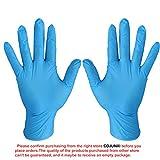 Hileyu Einweghandschuhe Nitril 100 Stück/Karton, (Größe L, Blau), Nitril-Handschuhe Handschuhe,Latexfrei Einweg-Handschuhe latexfrei, puderfrei