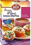 RUF Mini-Muffins Lemon mit Glasur, buntem Konfetti und Mini-Muffin-Förmchen für 20 Mini-Kuchen (1 x 350 g)