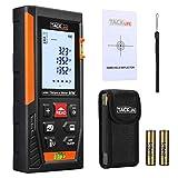 Laser Entfernungsmesser, TACKLIFE Distanzmessgerät, Messbreich 0.05~50m/±1.5mm, mit 2 Libellen Messeinheit M/In/Ft, IP54 Staub und Spritzwasserschutz, mit LCD Hintergrundbeleuchtung HD-50