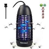 DEKINMAX Elektrischer Insektenvernichter, UV Insektenvernichter Mückenlampe Schutz vor Elektrischem SchlagTragbare Insektenlampe Zeltlampe gegen Mücken, Fliegen, Moskitos für Innen und Außeneinsatz