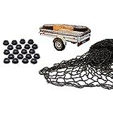 all-around24 Anhängernetz mit Befestigung Rundknöpfen 20St (125 x 210cm bis 200 x 300 cm)