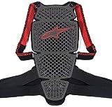 Alpinestars KR-Cell Motorrad-Rückenprotektor (M), grau schwarz rot