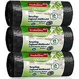Nature Recycling Zugband Müllbeutel - 25 Liter (60 Stück) - aus 80% Recycling Material - 3er Pack (3x20 Stück) -'Blauer Engel' Zertifikat