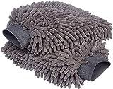 Ciujoy 2 Stück Auto waschhandschuh Microfaser,Weicher Korallen Autowaschhandschuh für Autowäsche Reinigung Auto Motorrad - Profil Autoschwamm, Scheiben ohne Kratzer grau