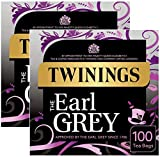 2x Twinings Earl Grey Tea Tee 100 Beutel