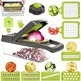 FUKTSYSM Gemüsehobel - 11 in 1 Neuestes Design Zwiebelschneider Gemüseschneider Slicer Kartoffelschneider Obstschneider Zwiebel Zerkleinerer Ideal zum Hobeln von Obst und Gemüsehobel