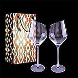 Gracefulhat Rotweingläser 550 ml, 2er Set Rotweinkelch & Weingläser,Bleifreies Kristallglas Abschrägung Mund Weißweingläser,das perfekte Schenk zum Hochzeit,Jubiläum,Weihnachten und Jeder Anlass