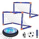 Anpro Air Power Fußball Set, Fussball Kinderspielzeug mit LED Beleuchtung in Innenräumen und Outdoor für Kinder Jungen Mädchen