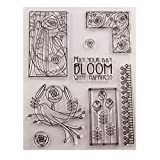 biaobiaoc Vogel Blumen Silikon klar Siegel Stempel DIY Scrapbooking Präge Fotoalbum dekorative Papier Karte Handwerk Kunst handgemachtes Geschenk