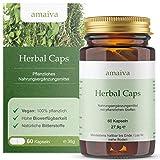 Herbal Caps (Bitterstoffe in veganen Kapseln, ohne Alkohol, 21 Kräutern - mit Mariendistel, Artischocke, Löwenzahn, etc. - höchste Qualität, freiverkäuflich, PZN: 11482597)