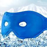 Unimi Gel Schlafmaske für Damen & Herren, Hot Cold Gel Augenmaske, kühlend Augenmaske für Puffy Eyes, Dunkle Kreise, Stress ReliefHeadache, Sinus Schmerzen, Fieber