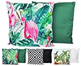 JACK XXL Outdoor Lounge Kissen 60x60cm Motiv Dekokissen Wasserfest Sitzkissen Garten Stuhl, Farbe:Flamingo