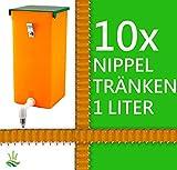 agrarking.de 10x Kaninchentränke 1 Liter Hamster Wasserspender - Edelstahl Aufhängung
