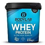 Bodylab24 Whey Protein 2kg | Eiweißpulver, Protein-Shake für Kraftsport & Fitness | Kann den Muskelaufbau unterstützen | Hochwertiges Protein-Pulver mit 80% Eiweiß | Aspartamfrei | Vanille