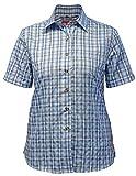 Fifty Five Damen Bluse Wanderbluse Lori hellblau 44 Kurzarm Funktions Shirt Atmungsaktiv