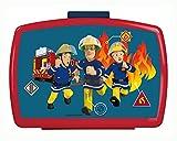 POS 26361099 26361088 - Brotdose Premium mit Einsatz, mit Feuerwehrmann Sam Motiv, ca. 16 x 12 x 6,5 cm, aus Kunststoff, bpa- und phthalatfrei, ideal für das Pausenbrot, für Jungen und Mädchen