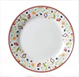 Flirt by R&B 018806 Doppio Shanti Frühstücksteller mit Paisley-Muster, Ø 20cm, Porzellan, weiß (1 Stück)