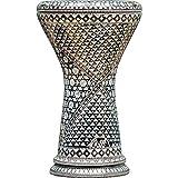 Die Ivory Spectrum Darbuka von Gawharet El Fan (World Percussion) – Arabische Darbouka-Trommel/Doumbek/Darabuka/Durbaka/Darbka mit weißem Kopf/Fell von Malik