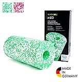BLACKROLL® MED Faszienrolle - das Original. (Härtegrad weich) - Die softe Selbstmassage-Rolle für die Faszien in weiß/grün