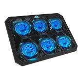TECKNET Laptop Kühlpads 12-19 Zoll, 6 Lüfter Laptop Cooling Pad mit LEDs Notebook Kühler Cooler Ständer, 2 USB-Ports Kühlmatte