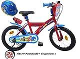 Fahrradhelm für Jungen, 16 Zoll, Paw Patrol 2 Bremsen PB/Kanister hinten + Fahrradhelm für Kinder, Mehrfarbig, 16 Zoll