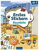 Erstes Stickern Baustelle: Über 200 Sticker | Erstes Stickerheft für Baustellen-Fans ab 3 Jahren
