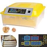 Inkubator Vollautomatische Brutmaschine,56 Eier Intelligentes digitales Brutmaschine Brutkasten mit LED Temperaturanzeige und Feuchtigkeitsregulierung (48 Eier)