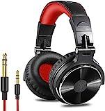 Over Ear Kopfhörer OneOdio DJ Kopfhörer mit Kabel Geschlossene Studio Kopfhörer mit Mikrofon, Adapter-Frei Studiokopfhörer mit Share Port Stereo Surround Headphones für Podcast, Recording, Monitoring