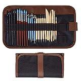 Aipaide Keramik Werkzeug,24 Stück Ton Werkzeug Modellierwerkzeuge Set,Töpfer Werkzeug für Keramiklehm, Wachskerzen