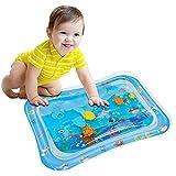 Wassermatte Baby, OUTOPE Baby Spielzeuge 3-6-9 Monate, Baby Wassermatte Perfektes Sensorisches Spielzeug, Wasser-Spielmatte Baby, Aufblasbarer Kinderwasserpark (66x50cm) (Hai Wassermatte)