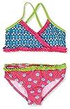 Playshoes Mädchen Zweiteiler Bikini Blumen, UV-Schutz nach Standard 801 und Oeko-Tex Standard 100, Gr. 122 (Herstellergröße: 122/128), Mehrfarbig (original 900)