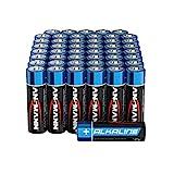 ANSMANN Batterien AA Alkaline Größe LR6 - AA Batterie für Spielzeug (48 Stück Vorratspack) Design kann abweichen