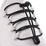 HYFAM Elastische Sport Schnürsenkel, Schnürsenkel mit Schnellverschluss, Keine Schuhe binden erforderlich, Schnürsenkel für alle Erwachsenen und Kinder Sneakers