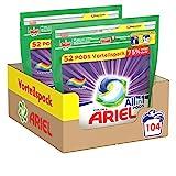 Ariel Waschmittel Pods All-in-1, Color Waschmittel, Farbschutz, 104 Waschladungen