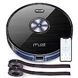 Muzili Saugroboter, WLAN Staubsauger Roboter mit Wischfunktion,App Fernbedienung & Funktioniert mit Alexa, Geräuscharm 350ML Wassertank mit 6 Reinigungsmodi für Tierhaare, Teppiche und Harte Böden