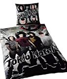 Tokio Hotel Bettwäsche 140x200 Kisenbezug 70x90 Baumwolle Renforce Reissverschluss