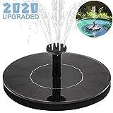 Yidaxing Solar Springbrunnen, Solar Teichpumpe Brunnen mit 1.4W Monokristalline Solar Panel mit 4 Verschiedene Düsen Solar Schwimmender Fontäne Pumpe für Gartenteich, Fisch-Behälter, Kleiner Teich