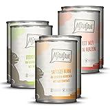 MjAMjAM - Premium Nassfutter für Katzen - Mixpaket 1 - Huhn, Rind, Herzen, 6er Pack (6 x 400 g), getreidefrei mit extra viel Fleisch